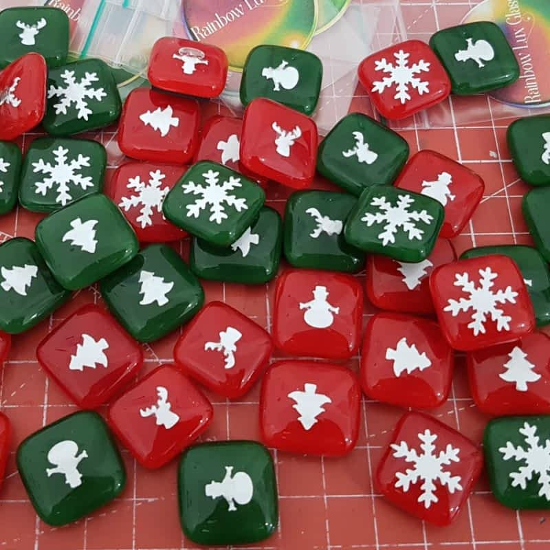 Christmas Magnets by Rainbow Lux Glass