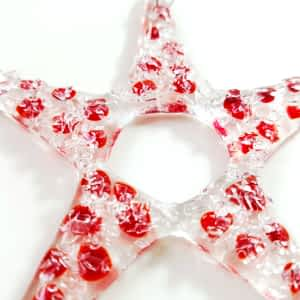 Star Decoration Christmas - Red - By Rainbow Lux Glass