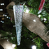 Sparkly Glass Icicle by Rainbow Lux Glass
