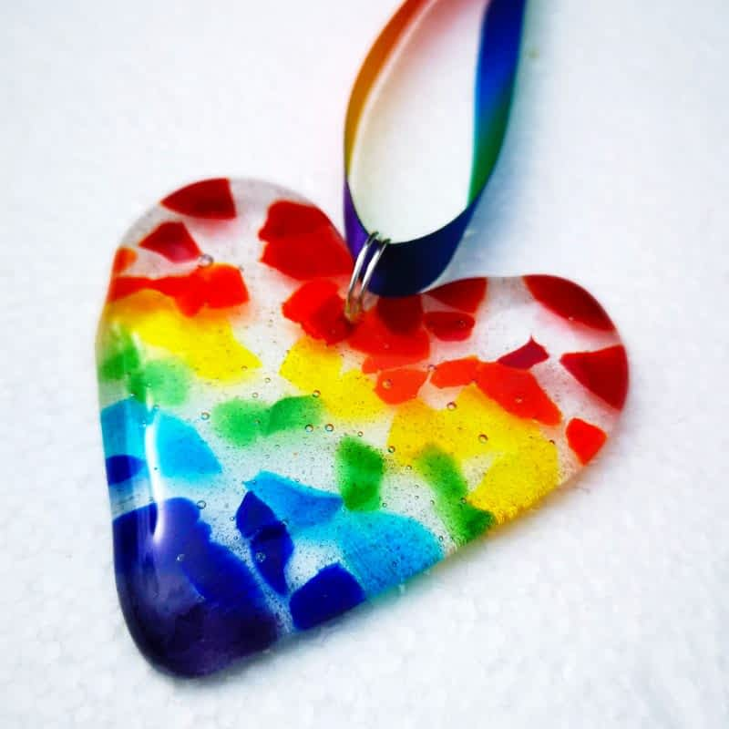 Glass Hearts by Rainbow Lux Glass
