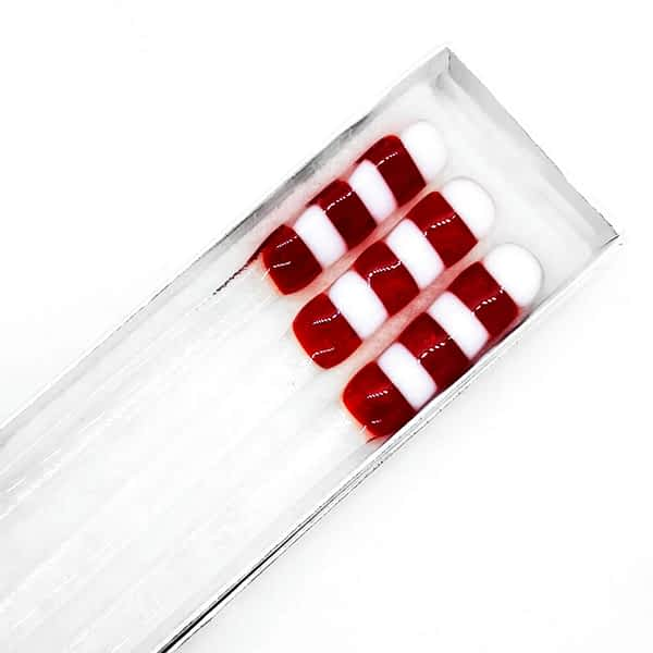 Red and white christmas swizzlesticks