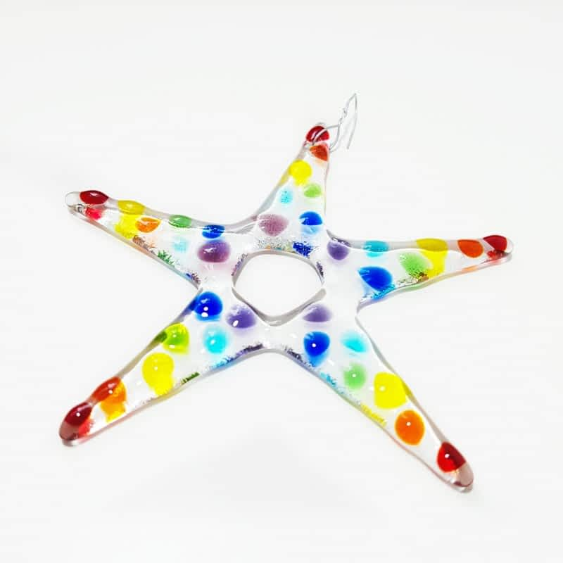 Star Decoration Christmas - By Rainbow Lux Glass