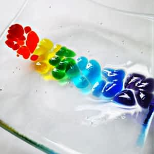Tactile Small Rainbow Dish by Rainbow Lux Glass