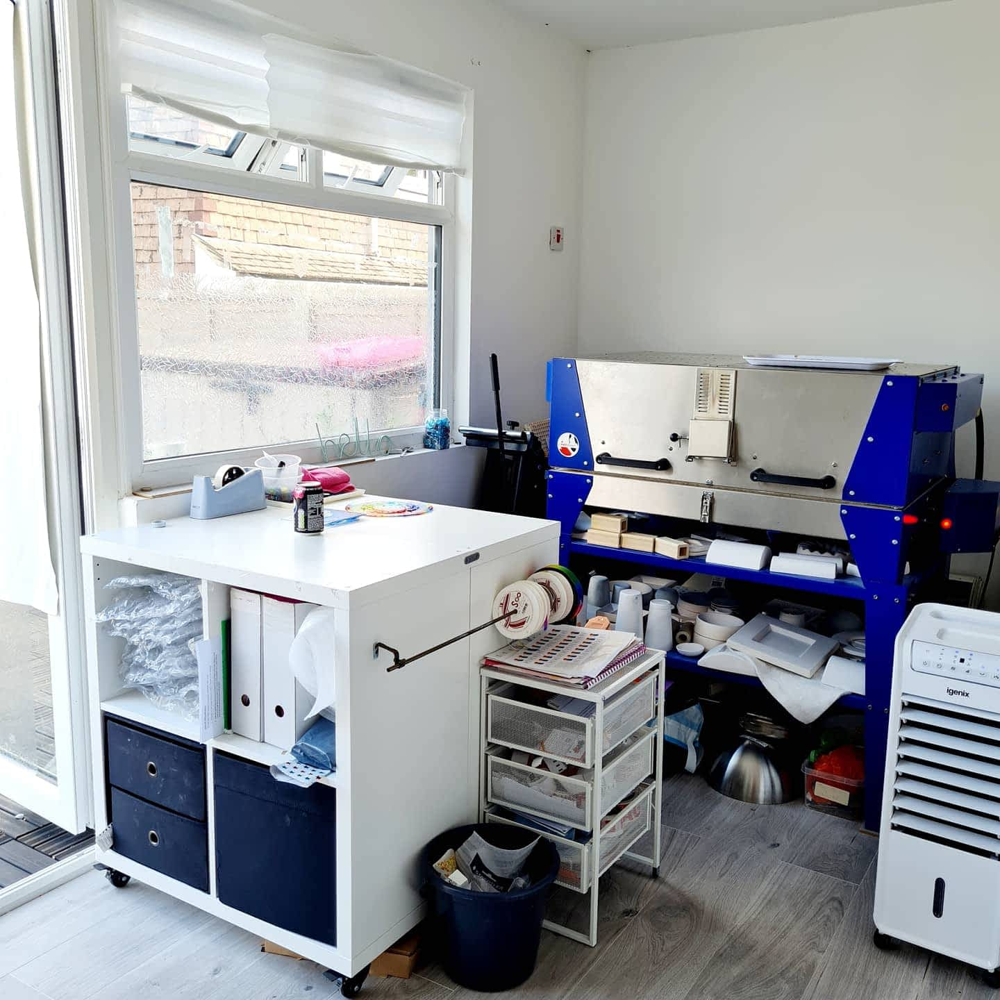 My workshop woth packaging area and kiln